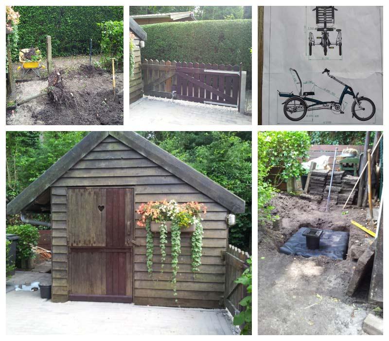 Aanpassingen tuin en tuinhuis tbv driewieler