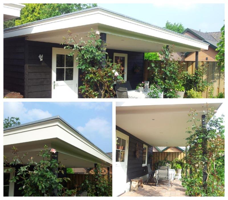 Schilderwerk aan tuinhuis en veranda