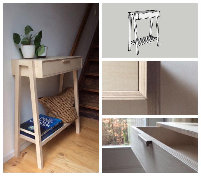 maatwerk meubel - sidetable -